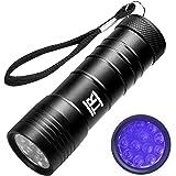 TechRise 紫外線ライト UVライト ブラックライト 12LED 懐中電灯 見えない汚れ対策