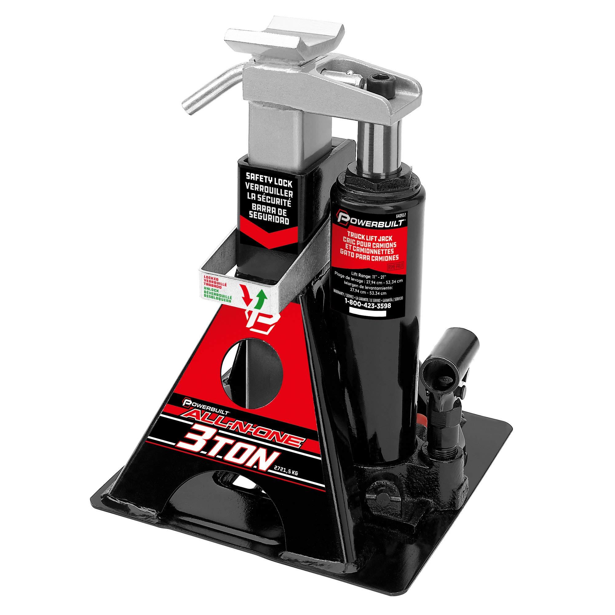 Alltrade 640912 Black 3 Ton, All-In-One Bottle Jack