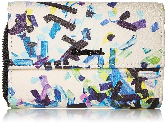 74829fda2f Desigual Wallet Confetti Alba Women - Portafogli Donna, Nero (Negro),  3x10.5x14 cm (B x H T): Amazon.it: Scarpe e borse