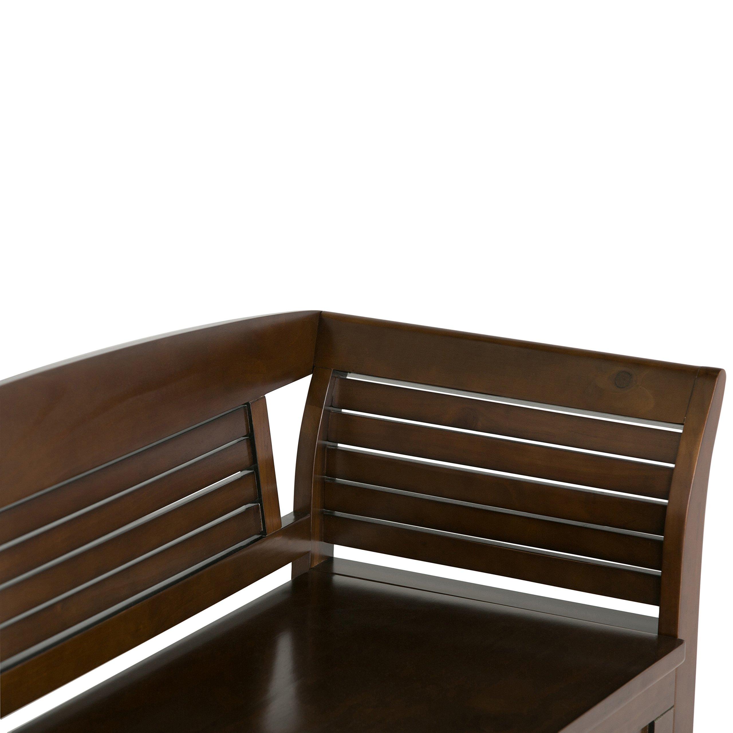 Simpli Home Arlington Solid Wood Entryway Storage Bench, Medium Rustic Brown by Simpli Home (Image #6)