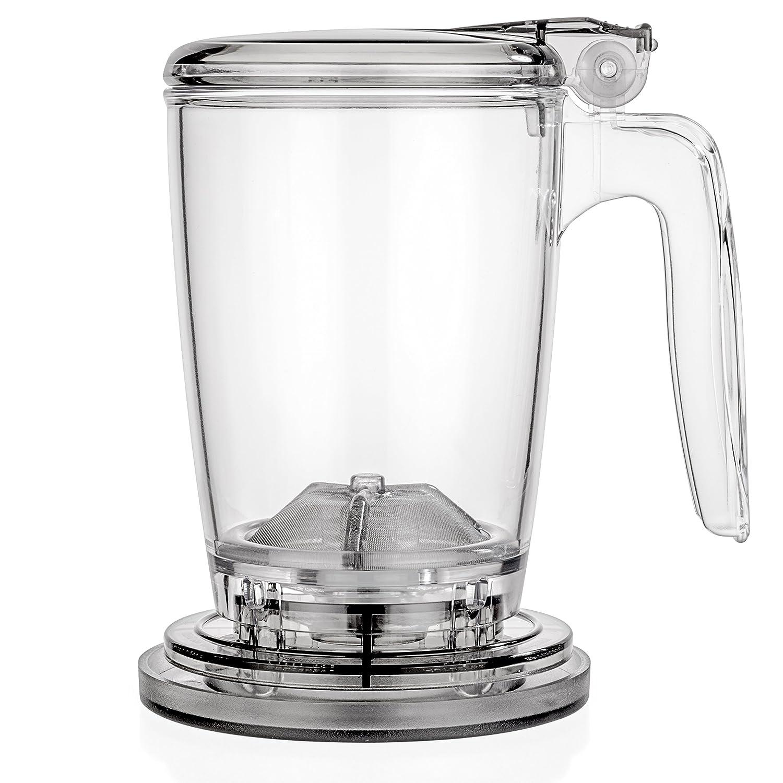 Tealyra - rapidTEA MAKER - 16-ounce - Loose Tea Teapot Infuser - Best Tea Maker Makes a Perfect Cup of Leaf Tea - Bottom Dispensing Teapot - Dripping Free Guarantee - 500ml
