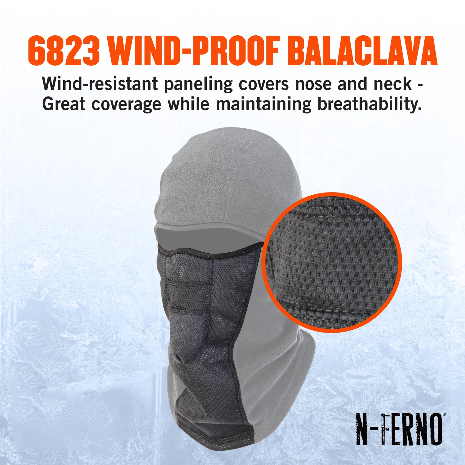 N ferno 6823 thermal fleece wind resistant hinged for Wind resistant material