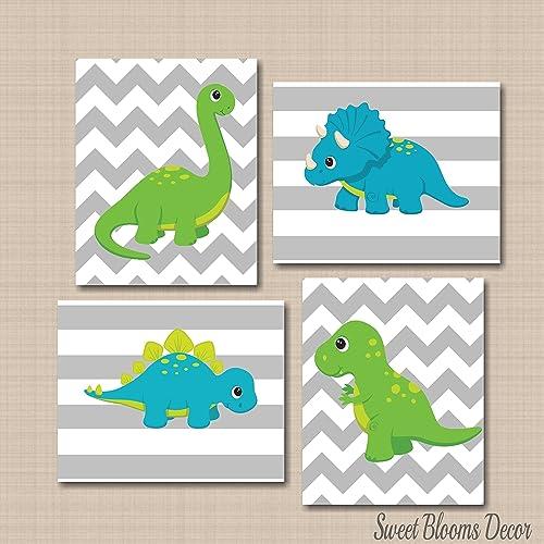 Amazon.com: Dinosaur Décor,Dinosaur Nursery Wall Art,Dinosaur Wall ...