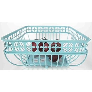 Home Basics Trinity Collection Pantryware Organization Set, Turquoise (Fruit Basket Square)