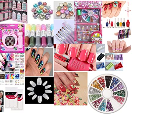 All In One Nail Art Kit Combo For Lovers Girls Birthday Gifts Girl Gift Sister Amazonin Beauty