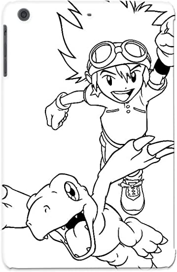 Amazon Com Ideal Vanehollo Case Cover For Ipad Mini Mini 2 Digimon Tamer Coloring Pages Protective Stylish Case