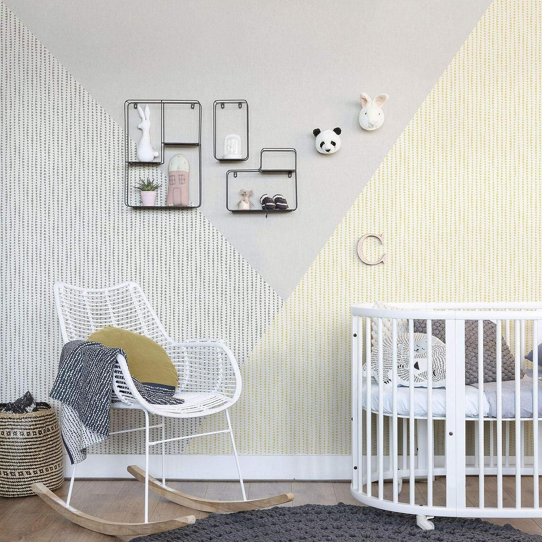 color gris y blanco Papel pintado 10,05 m x 0,53 m Rasch Bambino XVIII 249170