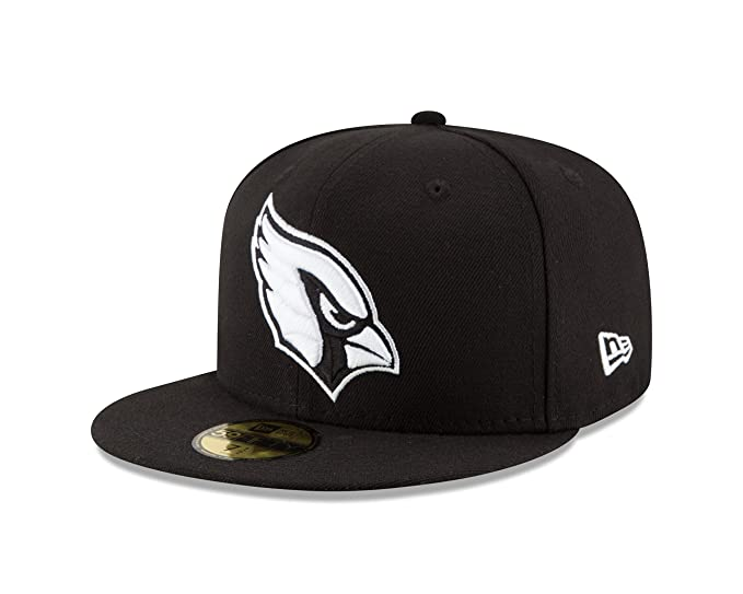 san francisco 2377b 2aff1 New Era NFL Arizona Cardinals Men s 59Fifty Fitted Cap, 7.25, Black