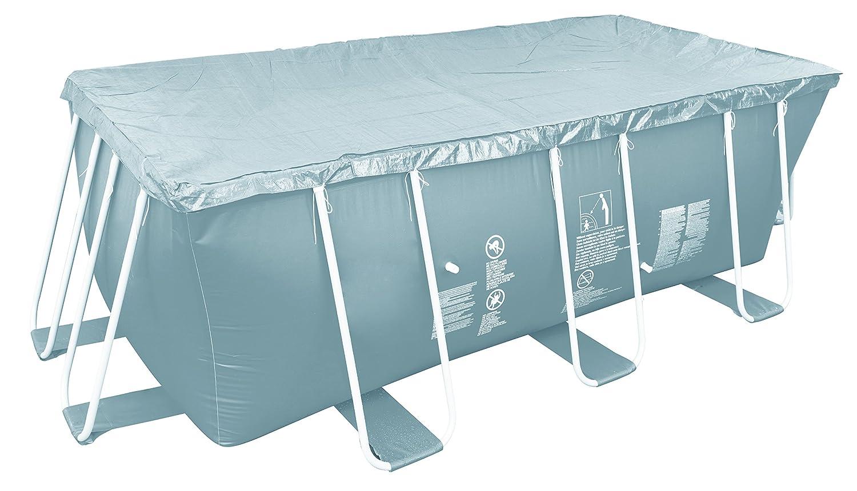 Jilong Pool-Abdeckung rechteckig Abdeckplane für Frame Pool Gr. 394x207 bis 404x201 cm Stahlrohr Schwimmbecken Stahlrahmen Schwimmbad Cover JL016113NV01 -P59