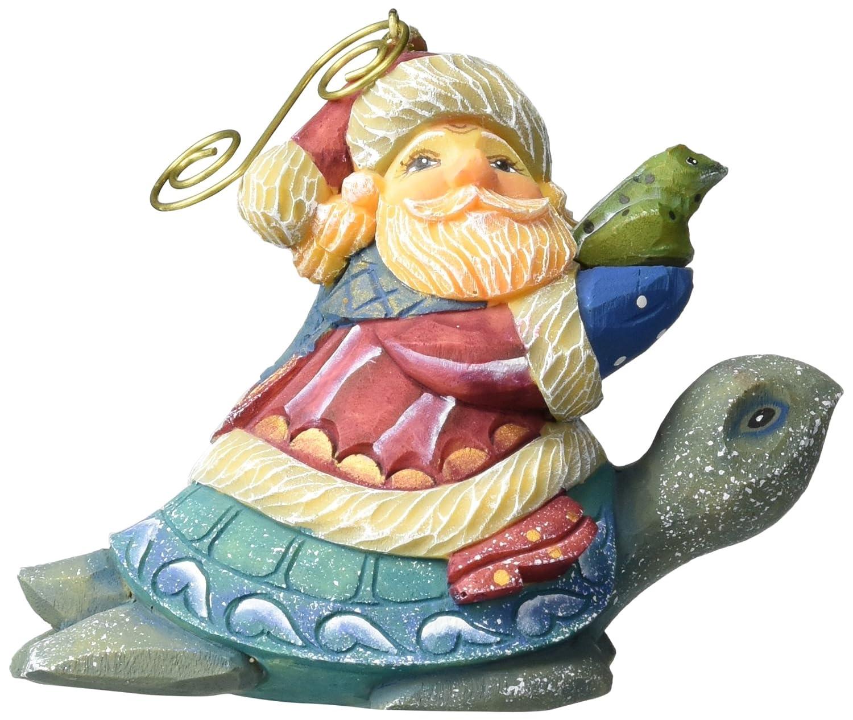 G Debrekht Santa on Turtle Figurine Ornament 63149