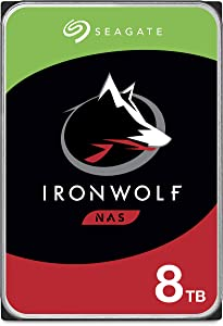 Seagate IronWolf 8TB NAS Internal Hard Drive HDD – 3.5 Inch SATA 6Gb/s 7200 RPM 256MB Cache for RAID Network Attached Storage – Frustration Free Packaging (ST8000VN0022)
