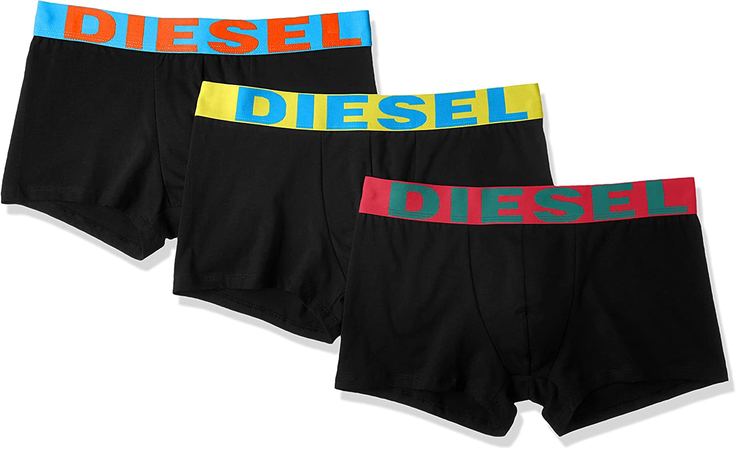 Diesel 3Pack Boxer Hombre Shorts UMBX Shawnthreepack - Negro/Multicolor