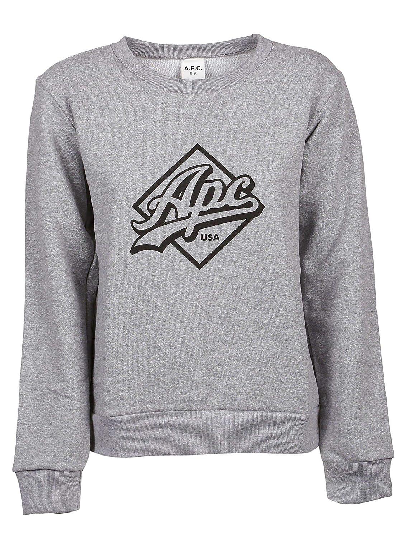 A.P.C. Women's COCZFF27494LAAgrey Grey Cotton Sweatshirt