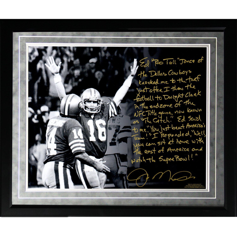 NFL San Francisco 49ers gerahmt 16 x 20 Joe Montana Faksimile \'The ...