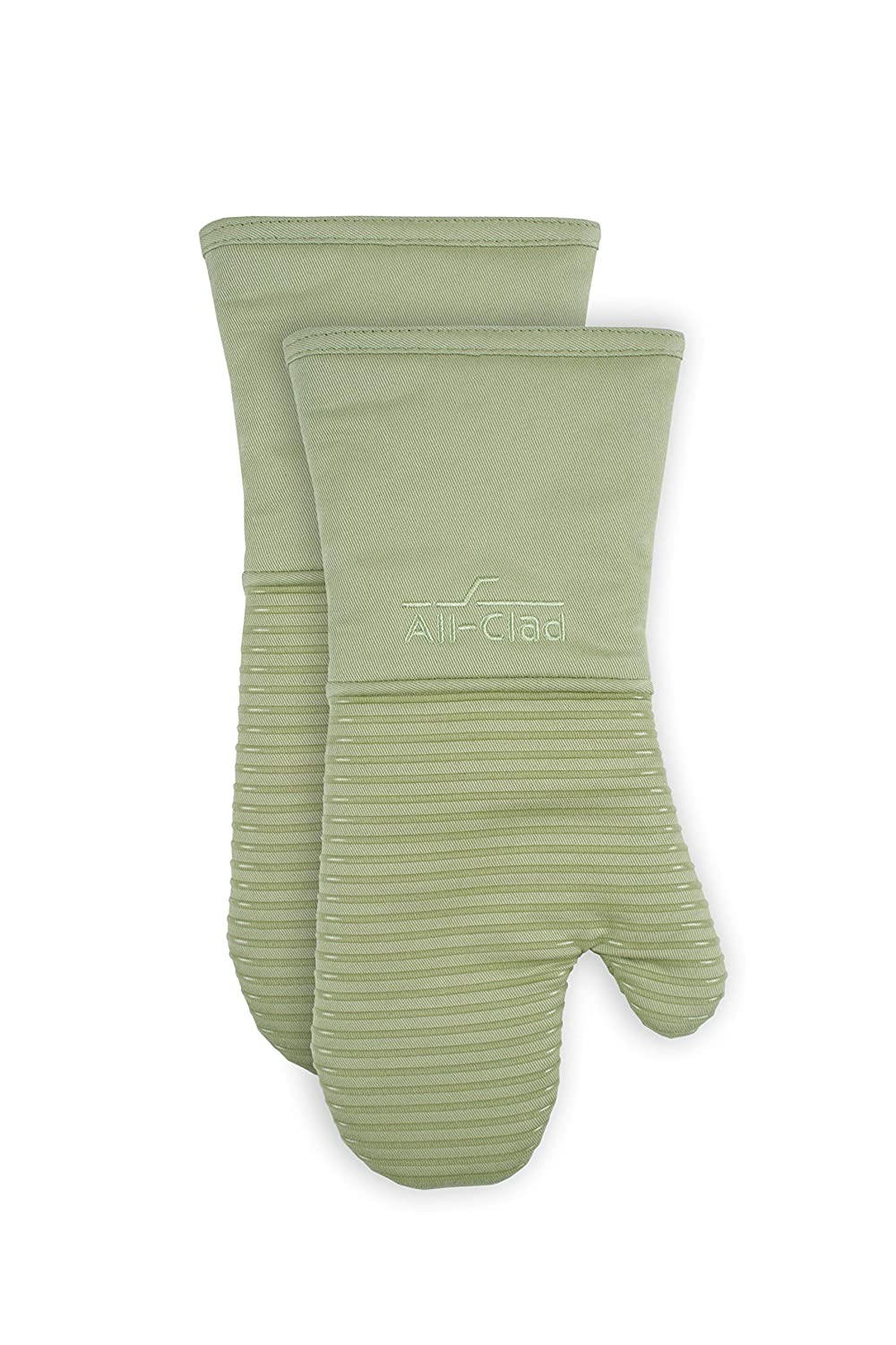 All-Clad Textiles PAC2SOM02 Silicone Oven Mitt, 2 Pack, Fennel