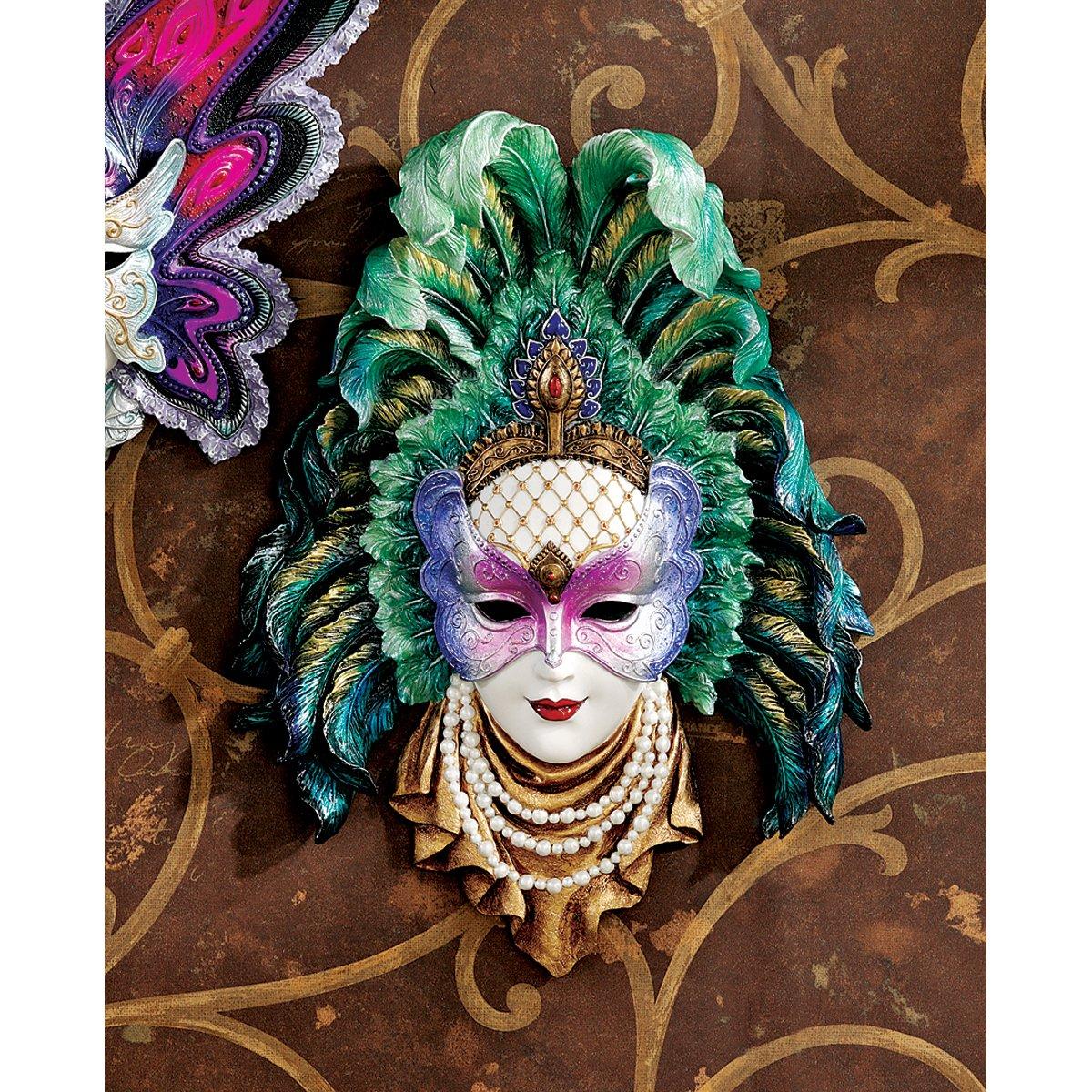 Amazon design toscano maidens of mardi peacock princess gras amazon design toscano maidens of mardi peacock princess gras wall mask sculpture home kitchen amipublicfo Images