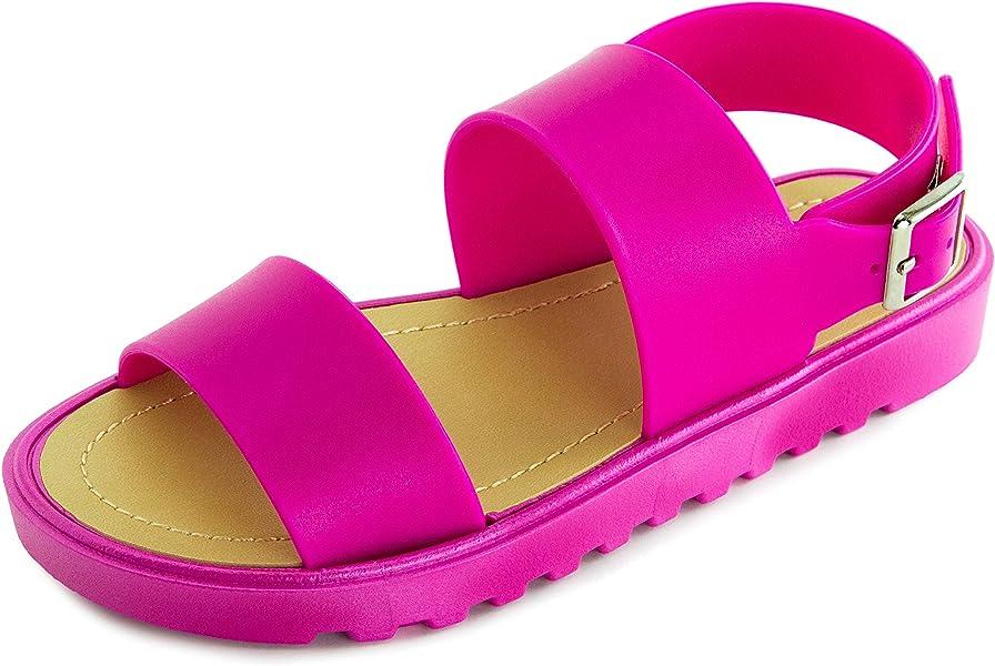 5efb0a05fe4 Kali Girls Open Toe Gladiator Ankle Strap Sandals