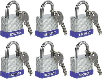 3 llaves Uso duradero Servicio pesado Alta seguridad Cerradura s/ólida Puerta Puerta Caja Seguridad Candado de acero inoxidable