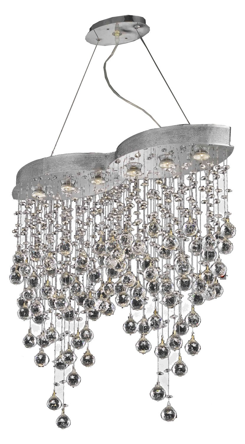 Galaxy Collection 6-Light Chrome Fix With Clear Swarovski Spectra Crystal
