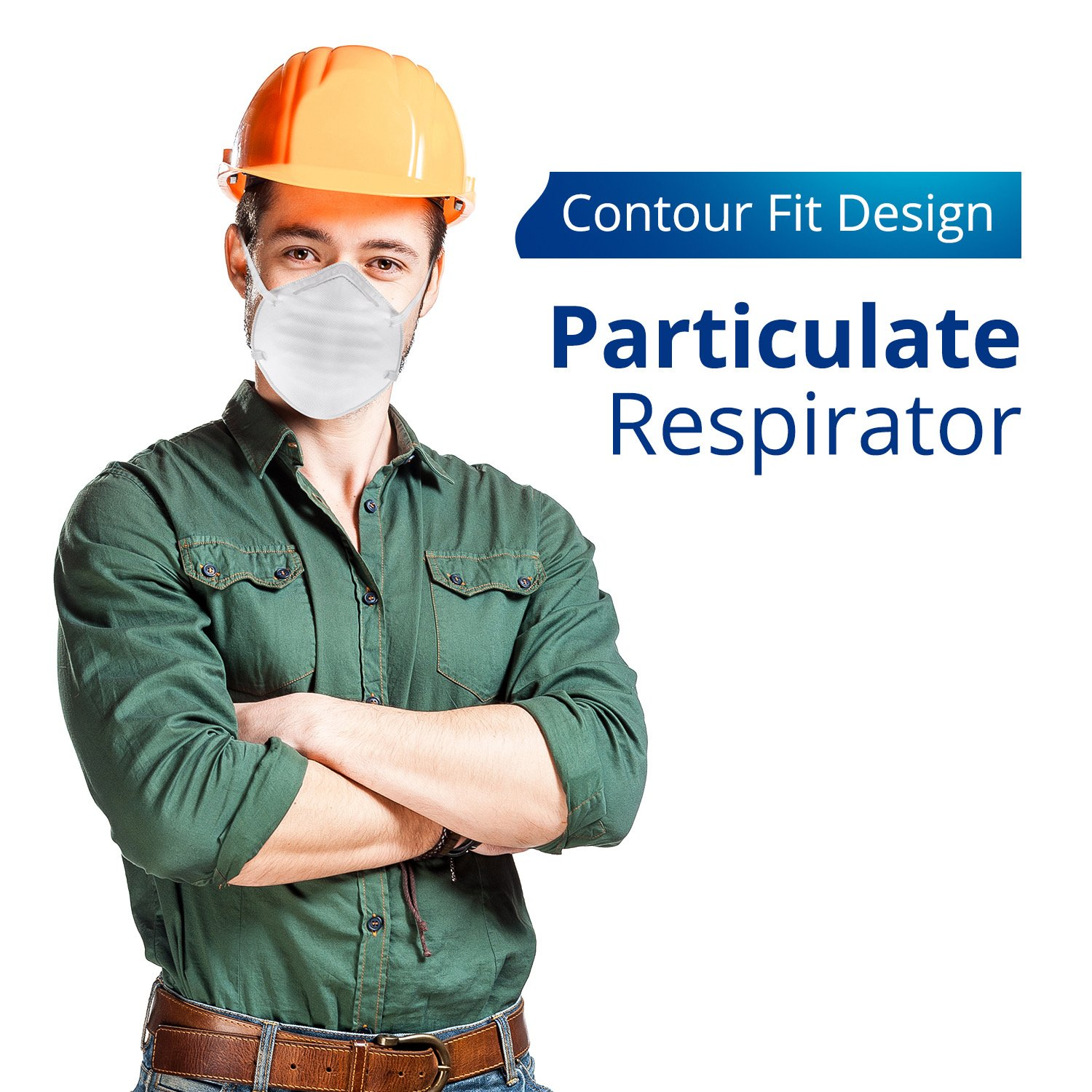 Disposable Dust Masks for face - NIOSH Certified - Safety N95 Particulate Respirator Mask (20 pack) by Protect Life (Image #3)