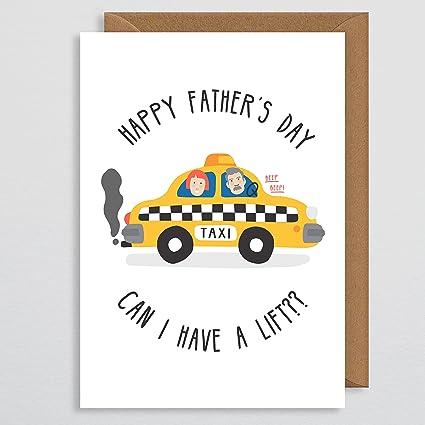 Tarjeta del día del padre - Tarjeta de Taxi para papá ...