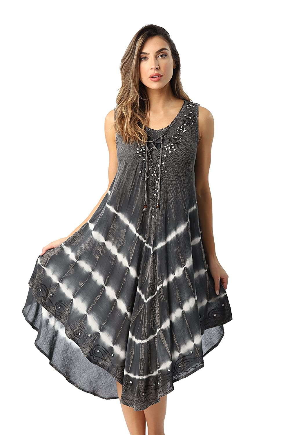 68f2d9911db9e ENJOY STYLISH VERSATILITY: Whether you're hitting up the beach or heading  to a casual lunch, these spring and summer dresses can easily be  accessorized to ...