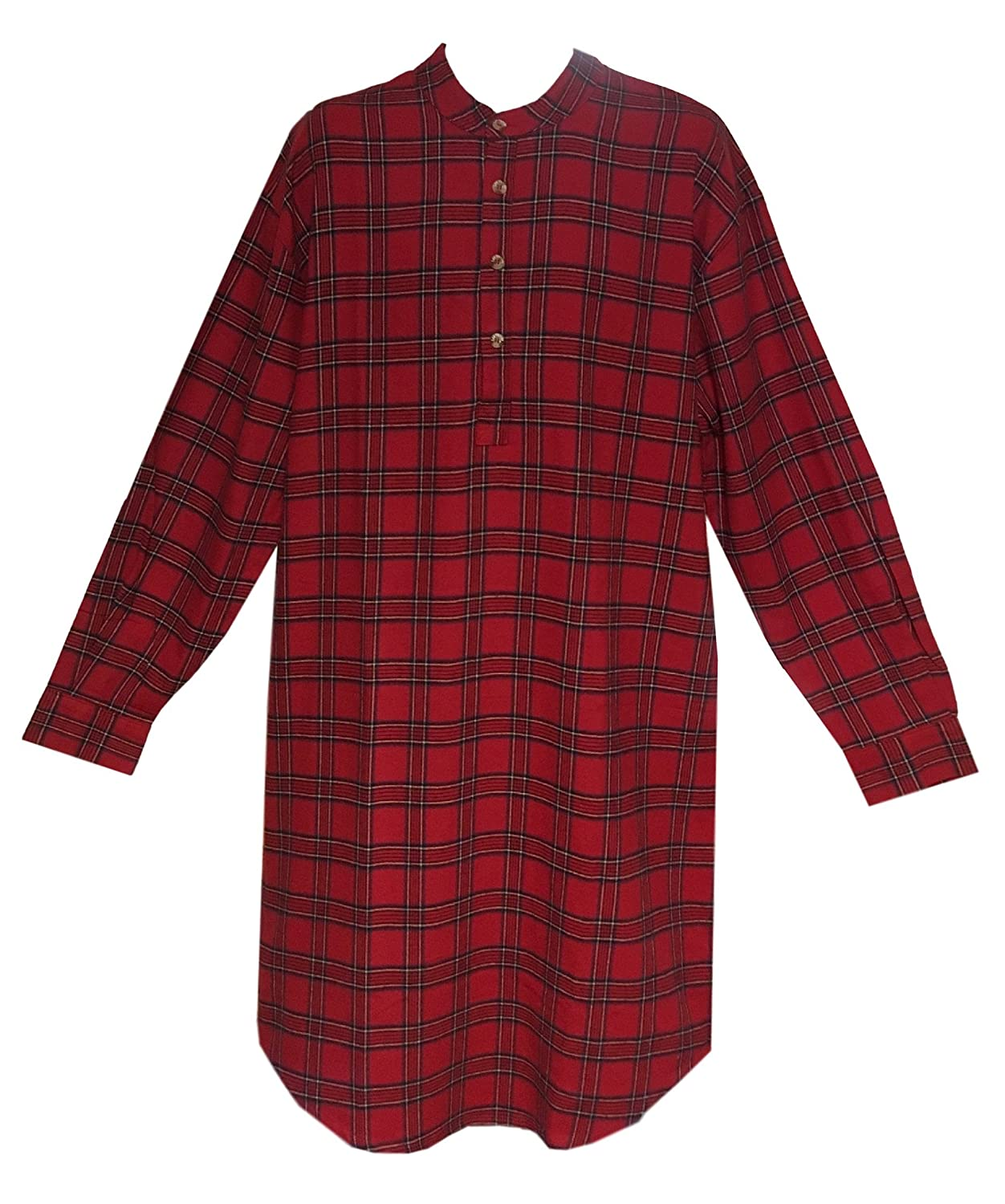 Lee Valley Men's Flannel Nightshirt (Small, Red Tartan) Ireland