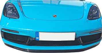 Zunsport Compatible with Porsche 718 Boxster//Cayman GTS Front Grille Set Black Finish 2018 -