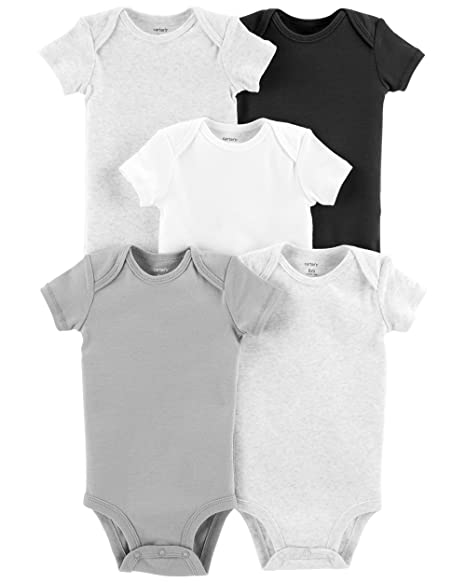 0121be1d60ce Amazon.com  Carter s Baby Boys 5 Pack Bodysuit Set