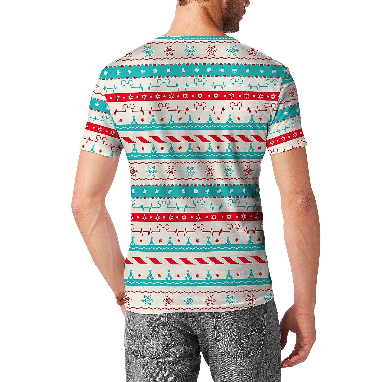 Christmas Candycane Disney Heartbeat Mens Sport Mesh T-Shirt