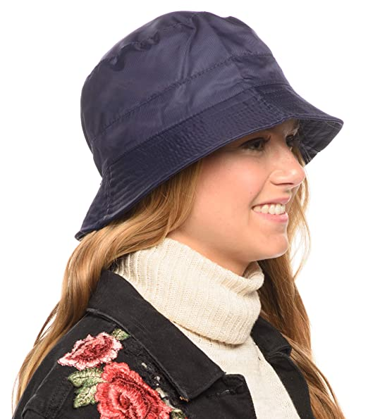 719344d1f4651 Adjustable Waterproof Bucket Rain Hat in Nylon