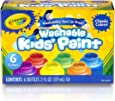 Crayola Washable Kids Paint, Classic Colors, 6 Count