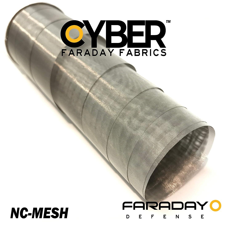 Cyber Faraday Fabric RF RFID EMF Light Filtering Mesh 50 x 1 Signal Blocking Material
