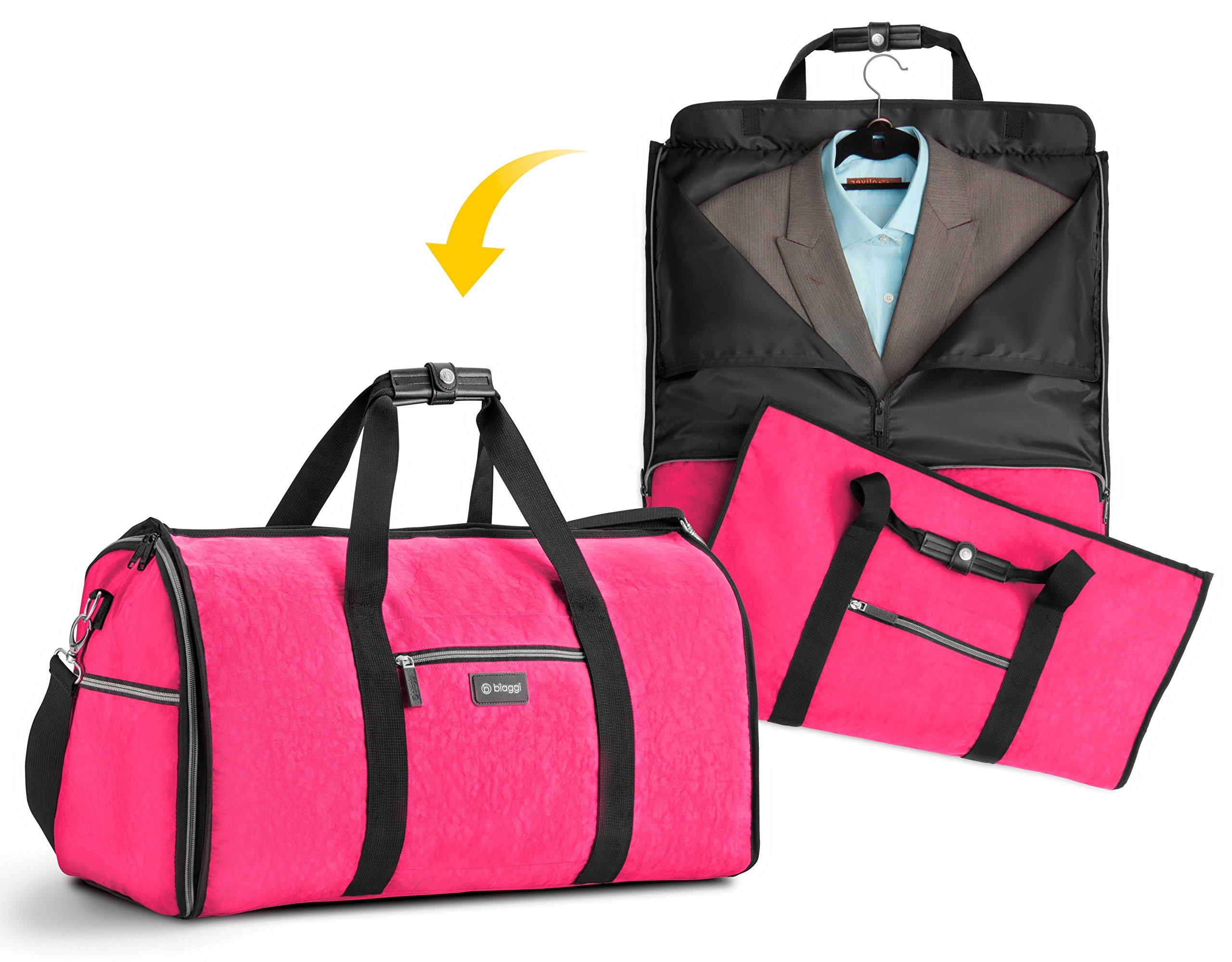 Biaggi Hangeroo Garment Bag+Duffel (One Size, Pink)