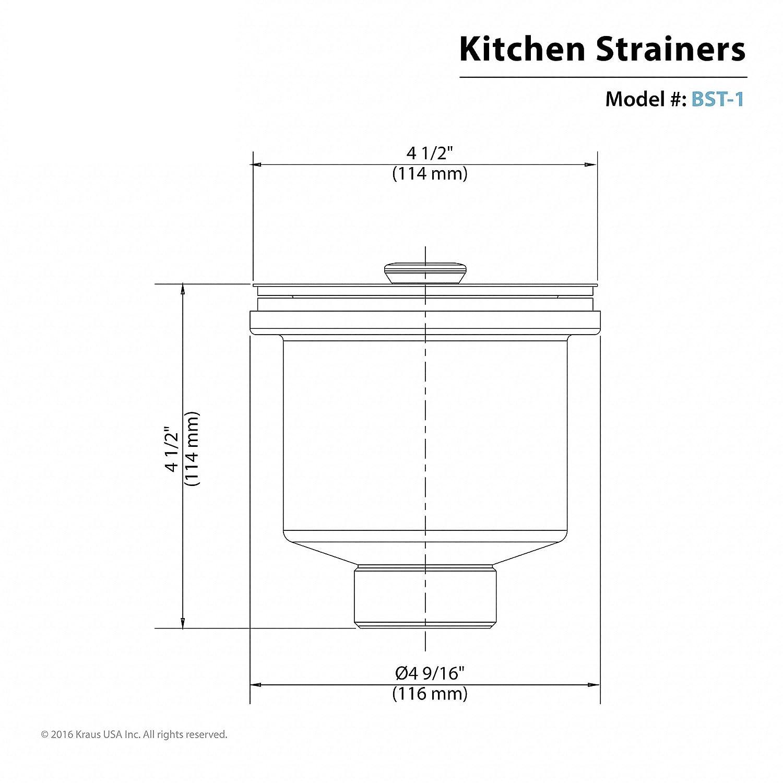 Kraus Bst 1 Stainless Steel Basket Strainer Sink Strainers Wiring Diagram Pioneer Deh 815