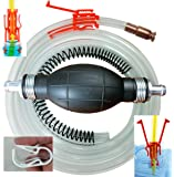 Siphon Pro XL - Largest Siphon for Water - Gas - Diesel - SEE VIDEO - It's a Pump or Siphon – Get Work Done Fast! 8' & Shut off Clip - USA