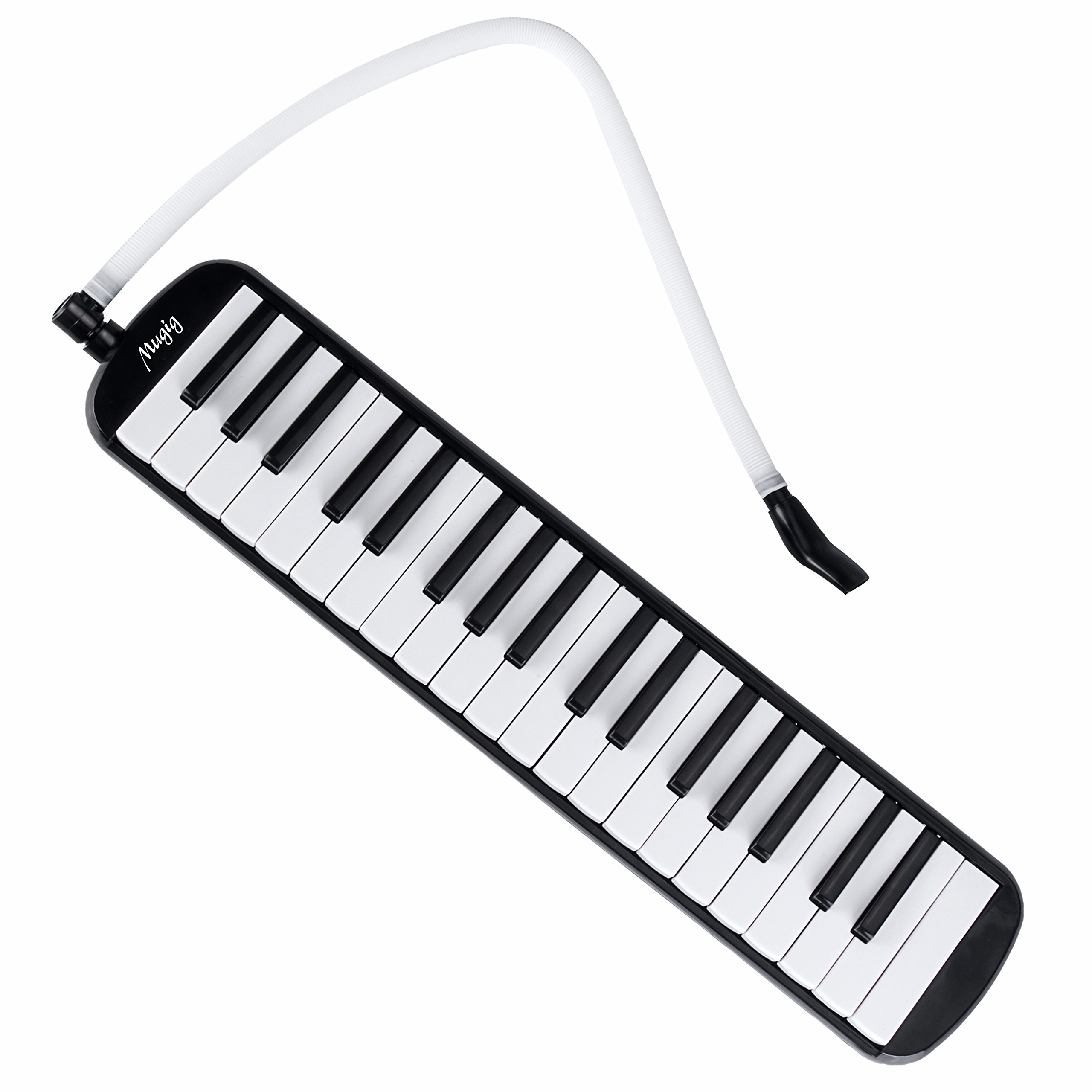 Melodica 37 Key Piano Style Melodica,Suitable for Teaching and Playing,with Carrying Case (Black), Swan