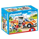 Playmobil 6685 City Life Children's Hospital Ambulance with Lights and Sound