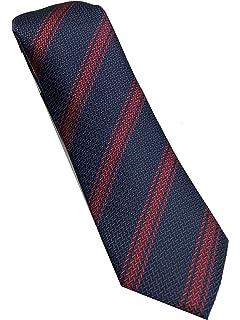 Corbata de hombre gris - corbata gris oscuro- corbata rayas ...