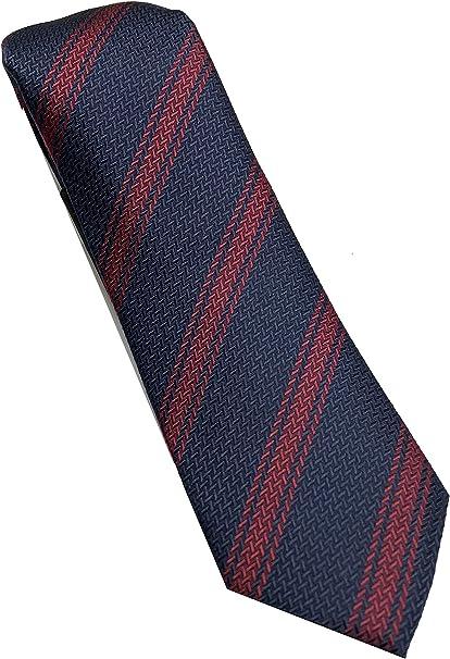 corbata azul a rayas - 100% seda - Corbata azul fabricada a mano ...