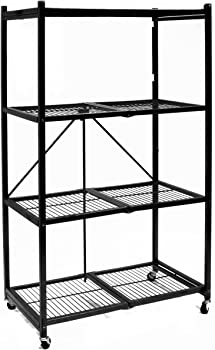 Origami General Purpose 4-Shelf Steel Collapsible Storage Rack