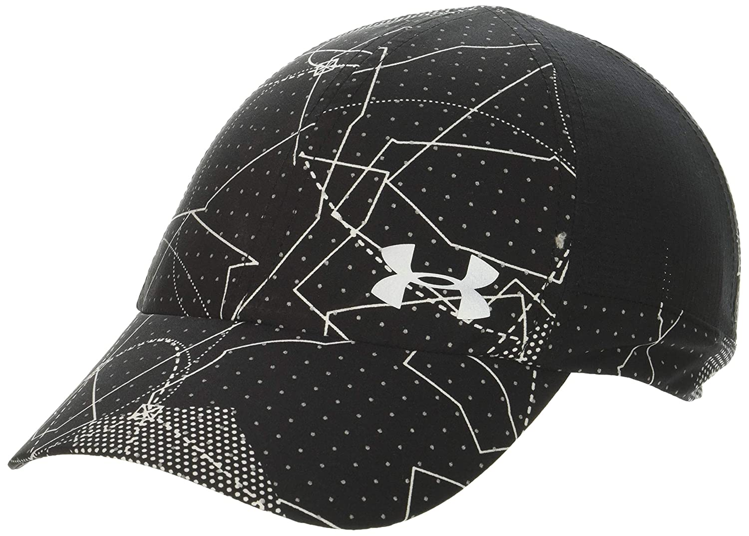newest 6bc2b be57c Amazon.com  Under Armour Women s Thread Borne Fly By Cap, Black  (002) Silver, One Size  Sports   Outdoors