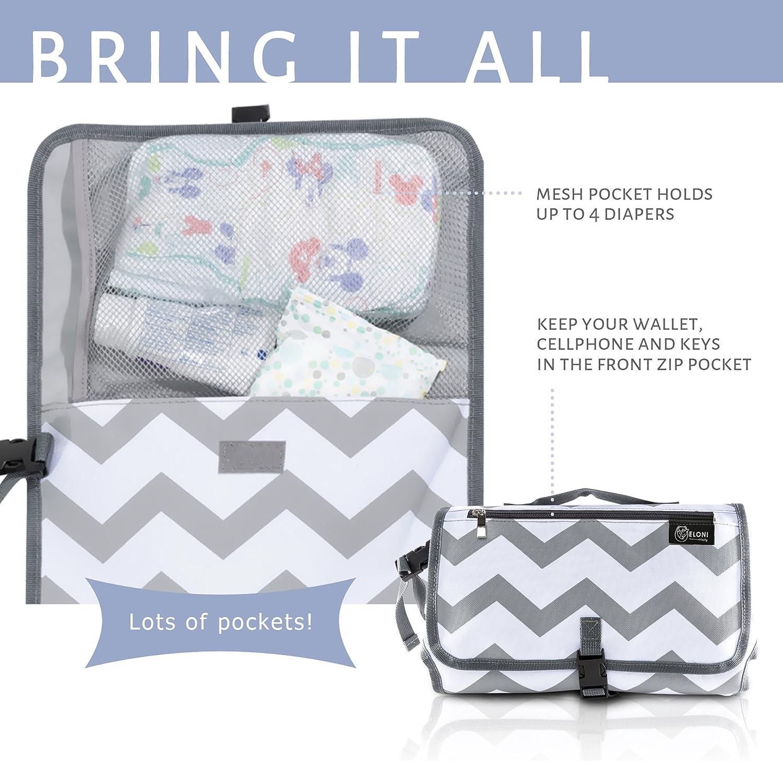 Amazon.com: eloni bebé pañal cambiador Compact – Station ...