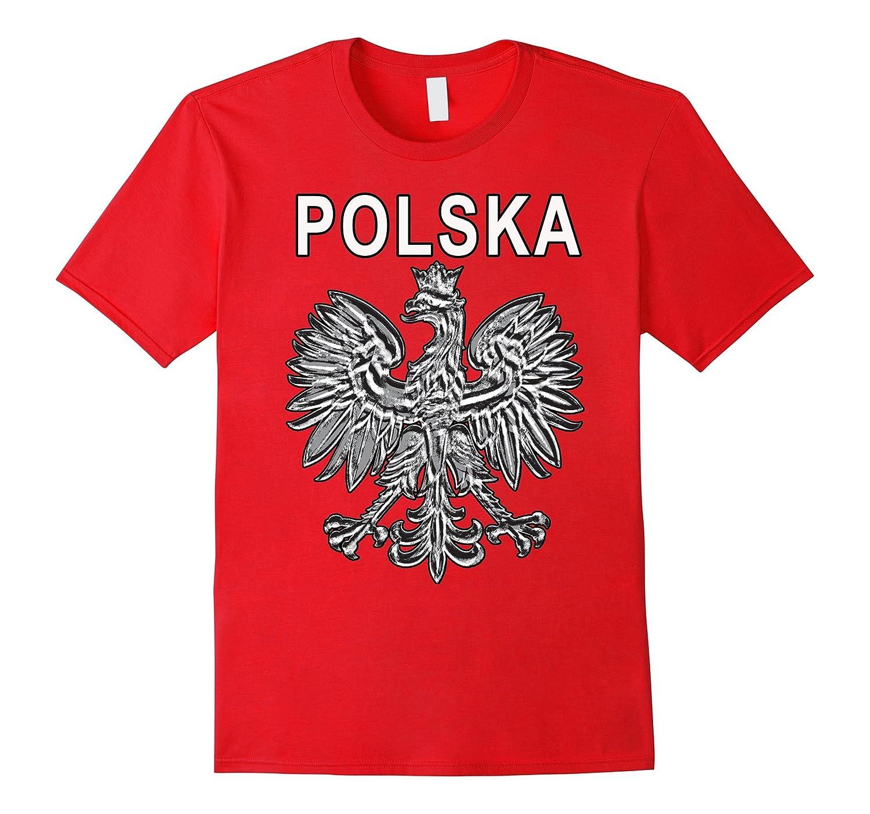 Polska Black and White Poland Eagle T-shirt-Art