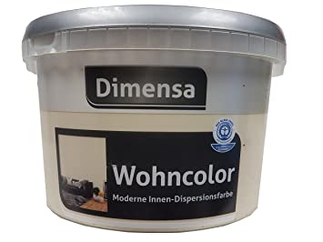 Dimensa Wohncolor Wandfarbe Moderne Innen  Dipersionsfarbe Matt Farbwahl  2,5 Liter, Farbe:
