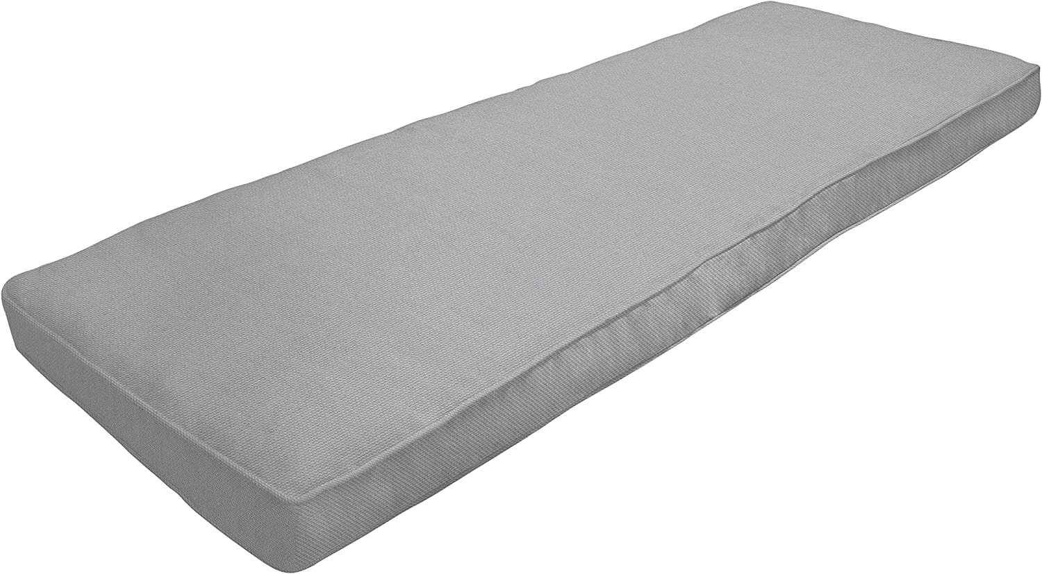 Amazon Custom Furnishings x Easy Way Products 20751 Custom Zipped Double Piped Bench Cushion, 48 x 15 x 3.5 , Pebbletex Grey 94