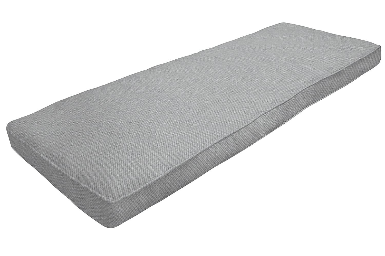 Amazon Custom Furnishings x Easy Way Products 20681 Custom Zipped Double Piped Bench Cushion, 45 x 15 x 2.5 Pebbletex Grey 94