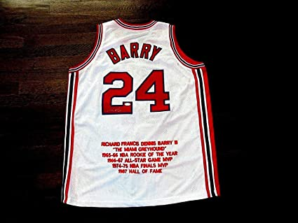 d83d2b314fe Signed Rick Barry Jersey - Hof Forward Stat Home - JSA Certified ...