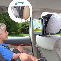 TFY Universal Car Headrest Mount Holder w/Angle Adjustable Holding Clamp