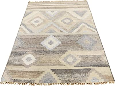 Amazon Com Modern Area Rug Sculpture 258 Blue 5 Feet 2